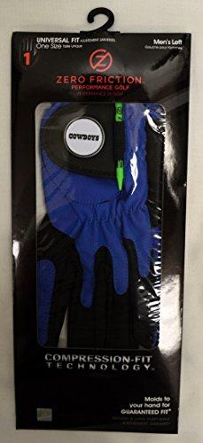 Zero Friction Men's Left Hand Universal Golf Glove - Dallas Cowboys - - Fit Cowboys Universal