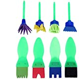 Early Learning Mini Flower Sponge Painting Brushes Sago Brothers Craft Brushes Set for Kids 8 PCS