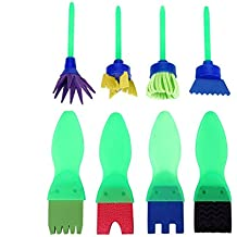 Early Learning Mini Flower Sponge Painting Brushes Sago Brothers Craft Brushes Set for Kids 8 PCS