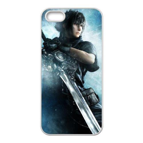 Noctis Lucis Caelum U2O92 Final Fantasy K6L2SD coque iPhone 5 5s cellule de cas de téléphone couvercle coque blanche RW9DYR9LC