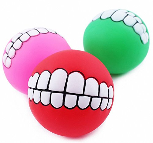Wacky Cat Ball (Pet Toys Spherical Super Thick Vinyl Sound Teeth Bite Resistant Ball Dog Training Tool Randomly Color (Randomly Color))