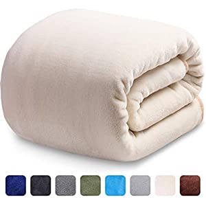 LEISURE TOWN Fleece Blanket Queen King Twin Throw Size Soft Summer Cooling Breathable Luxury Plush Travel Camping Blankets Lightweight for Sofa Couch Bed by LEISURE TOWN