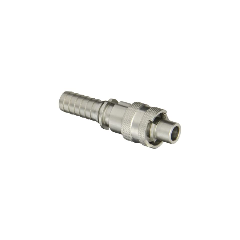 Dixon Valve QSS4 Stainless Steel 303 Dix Lock Air Fitting, Quick Acting Coupler, 1/2 Male Head x 3/4 Hose ID