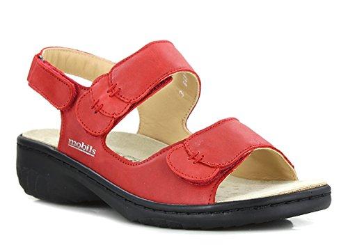 rojo Sandalias 36 Rojo Vestir Getha Eu camel Mephisto De Mujer qxZgW7
