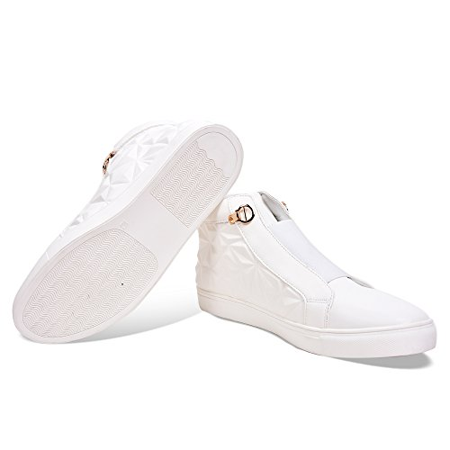 Tiktauli de. Corps. Mens PU High Top Sneakers White qAUfIDo