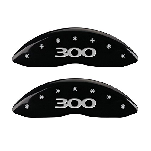 - MGP Caliper Covers (32020S300BK) '300' Engraved Front and Rear Caliper Cover with Black Powder Coat Finish and Silver Characters, (Set of 4)