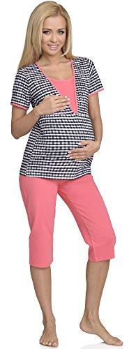 Be Mammy Mujer Lactancia Pijamas Dos Piezas Rita Coralino