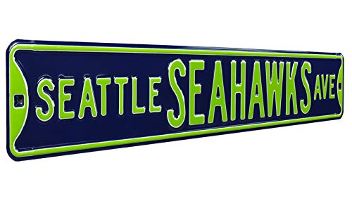Fremont Die NFL Seattle Seahawks Metal Wall Décor- Large, Heavy Duty Steel Street Sign from Fremont Die