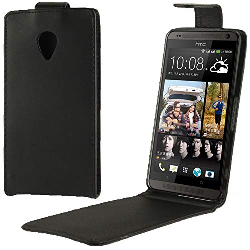 ZHANGTAI Phone Back Cover Vertical Flip Leather Case for HTC Desire 700 (Black) Case Cover Sleeves (700 Case Desire Htc)
