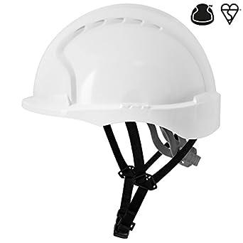 JSP ajg250 - 000 - 100 EVO3 Linesman antideslizante de carraca casco, blanco: Amazon.es: Industria, empresas y ciencia