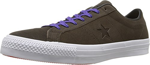 Converse Unisex One Star Pro Leather Ox Hot Cocoa/Black/White Skate Shoe 7.5 Men US/9.5 Women US