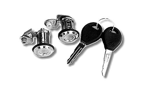 Well Auto Door Lock Cylinder Set-Tumbler with Key(L & R) for 86-91 D21 87-91 Pathfinder(Back Plate different)