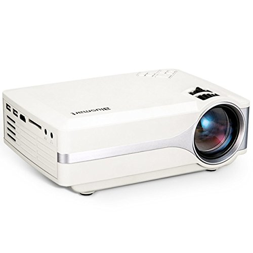 Projector, Blusmart LED-9400 Mini Portable Home Video Projector 220 LUX Peak Brightness180'' TV Projector Support 1080P Full HD for TV Movie Game Home Entertainment with PC AV/HDMI/VGA Input by Blusmart