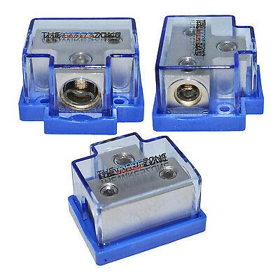 (The Wires Zone SPDP-1024 Platinum Series 1/0 Gauge in to 4 Gauge Out Power Distribution Block)
