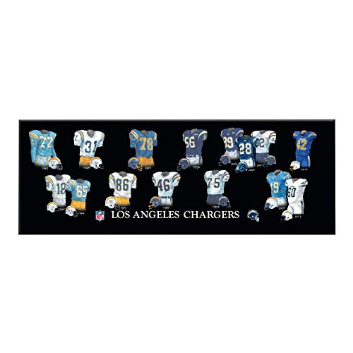 Uniform Chargers Diego San (Winning Streak NFL San Diego Chargers Unisex Los Angeles Chargers Legacy Uniform PlaqueLos Angeles Chargers Legacy Uniform Plaque, Black, Plaque)