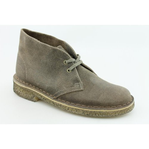 Clarks Women's Desert Boot Taupe Distressed Leather 5.5 M