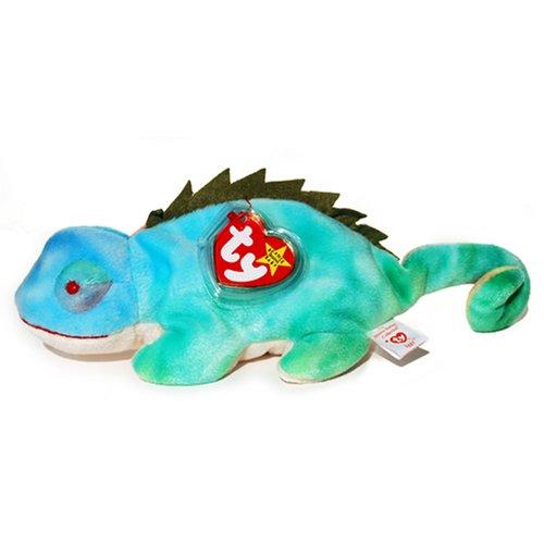 Ty Beanie Babies - Rainbow The Ty-Dye Chameleon - Iggy Tags (Iggy Beanie Baby)