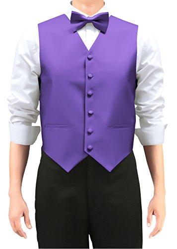Retreez Men's Solid Color Woven Men's Suit Vest, Dress Ve...
