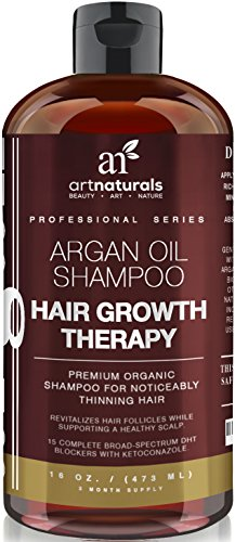 Art Naturals Organic Argan Oil Hair Loss Shampoo for Hair Regrowth 16 Oz - Sulfate Free - Best Treatment for Hair Loss, Thinning & - Growth Product For Men & - Supplements Herbal Other