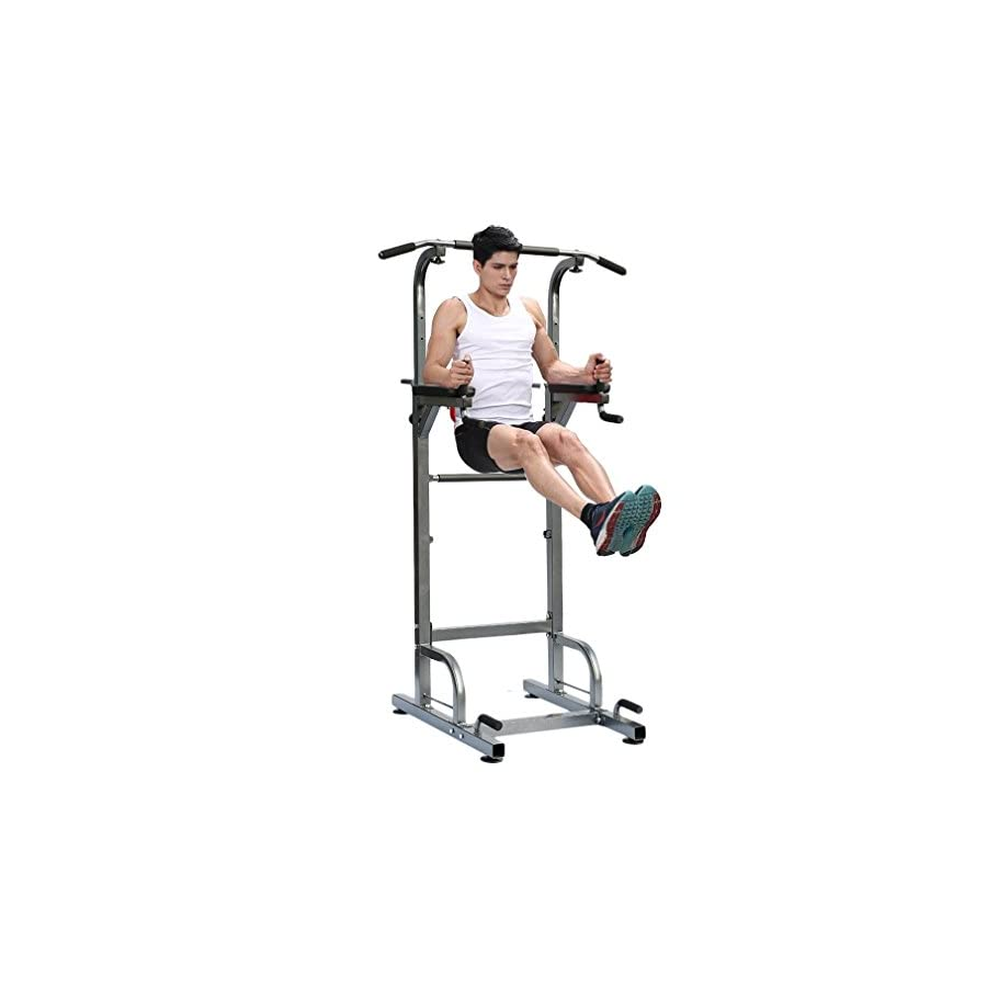 Nexttechnology Power Tower Heavy Duty Pull Up Dip Station Fitness Workout Exercise Machine