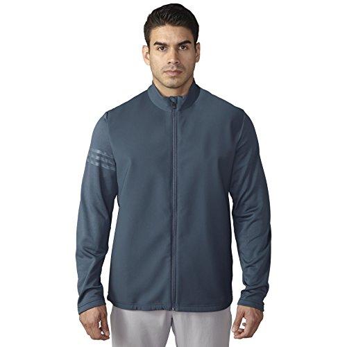 adidas Golf Men's Climastorm Hybrid Heathered Jacket, Mineral Blue S, Large