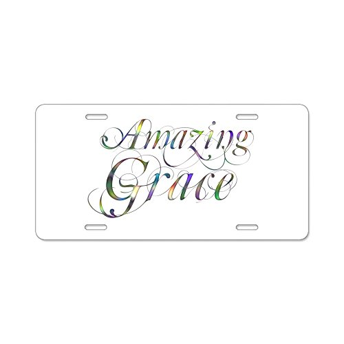 Price comparison product image CafePress - Amazing Grace - Aluminum License Plate,  Front License Plate,  Vanity Tag