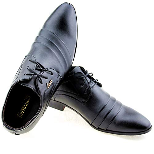 Up Oxford PU Uomo Business Vestito Scarpe di Flats Guida Lace Pelle Partito Casuale Office 03black in Scarpe Wedding Mens Mens S5qRxn
