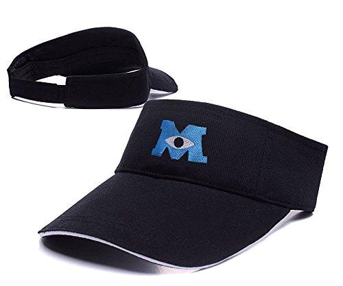 [DEBANG Monsters University Visor Cap Embroidery Adjustable Sun Hat] (Monsters University Hat)