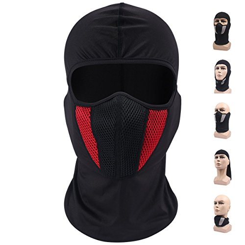 Balaclava Ski Mask  Windproof Face Mask  Motorcycle Face Mask For Men Women  Thin Breathable Perfect Mask For Motorcycling  Snowboarding  Hiking  Red