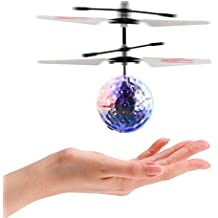 ThinkMax Infrared Sensor Flying Balls Hand Induced Flight with LED Lights -Transparent