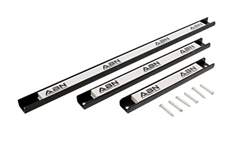 "ABN Magnetic Tool Holder 3-Piece Set of 8"", 12"", 18"" Inch Strip Racks with Mounting Screws – For Garage and Workshop by ABN (Image #7)"