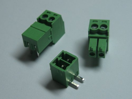 10 Pcs Pitch 3.5mm Angle 2way/pin Screw Terminal Block Connector w/ Angle Pin Green Color Pluggable Type Skywalking