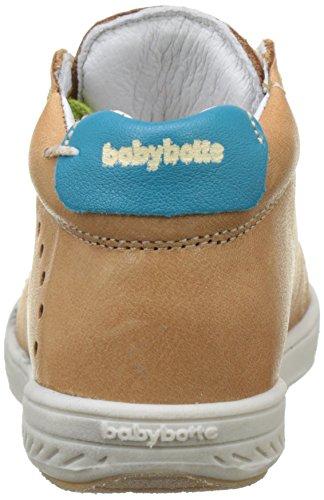 Babybotte Ankara, Zapatillas Altas para Niños Marron (Camel/Turquoise)
