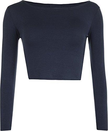 AHR_Manchester_Ltd. - Camiseta de manga larga - Básico - para mujer azul marino