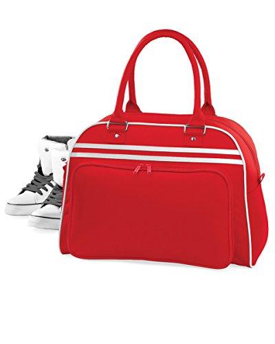 Bag Classic White Bowling Retro Colours BagBase Red qIxwTUnt