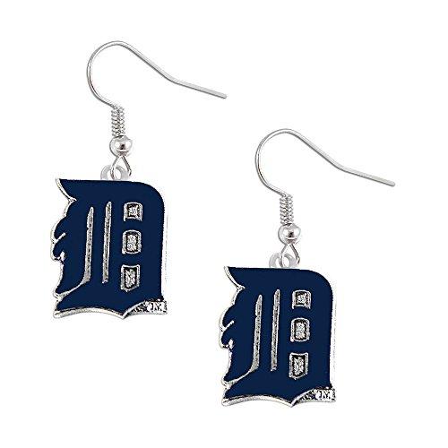 aminco Detroit Tigers Dangle Logo Earring Set Mlb Charm Gift