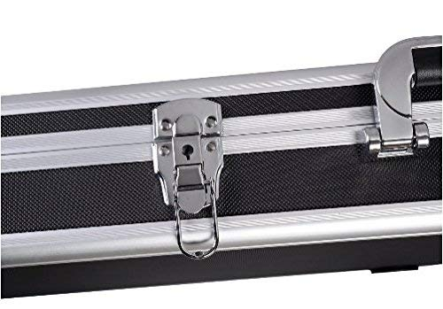 COSTWAY Mallette Fusil pour Arme Longue Valise Fusil en Aluminium Serrure /à Combinaison