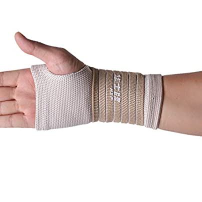 Arm Sleeve 1Pc Wrist Support Gloves Gym Gloves Wrist Brace Sports Protection Wristband For Basketball Volleyball Beige Estimated Price £8.29 -