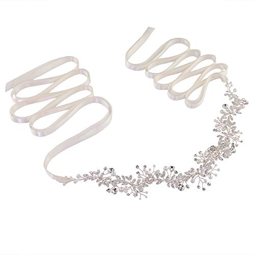 Azaleas Women's Pearls Bridal Bridesmaid Dresses Sash Belts White One Size