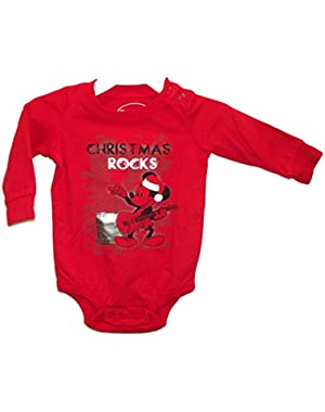 Mickey Mouse Christmas Rocks Baby Bodysuit Dress Up Outfit