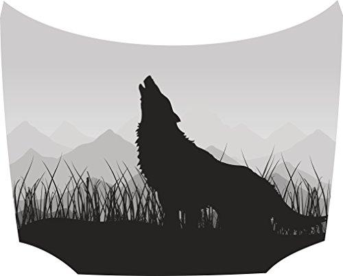 Bonnet Sticker Wolf Grey: