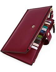 UTO RFID Wallet for Women PU Leather Blocking Tech 19 Card Case Money Organizer Phone Zipper Pocket