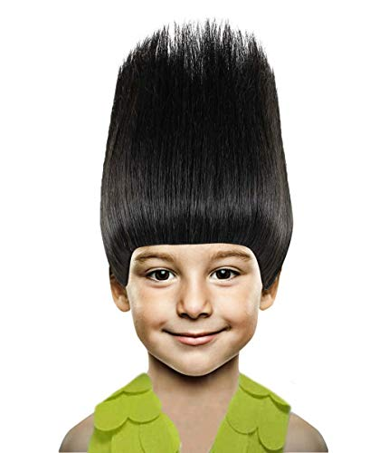 Halloween Party Online Troll Wig, Black Kids HM-080]()