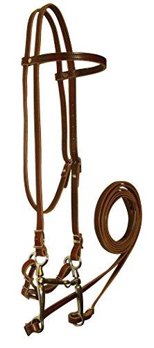 Hamilton Headstall Bridle Set, 5/8-Inch, Horse, Brown