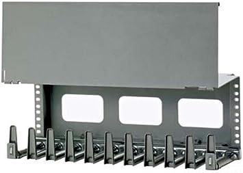 Black Panduit WMPVCBE Vertical Cable Management Bracket Kit 4-Piece Black