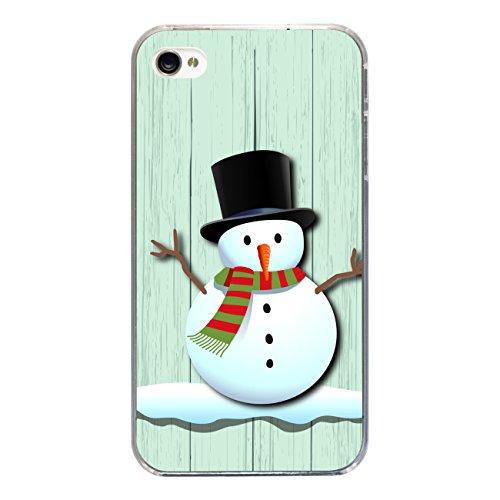 """Disagu Design Case Coque pour Apple iPhone 4s Housse etui coque pochette """"X-Mas Snowman"""""""