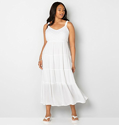 AVENUE-Womens-Embroidered-Tiered-Maxi-Dress