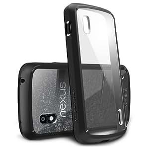 RINGKE FUSION for Google Nexus 4 Best Selling Shock Absorption Bumper + Anti Scratch Clear Back Premium Case [Eco/DIY Pkg.][BLACK]