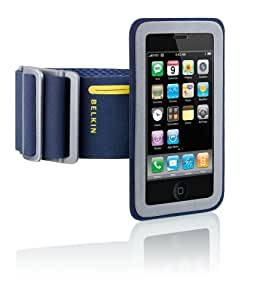 Belkin Sport Armband Plus with FastFit for Apple iPhone 3G, 3G S (Blue,Gray)