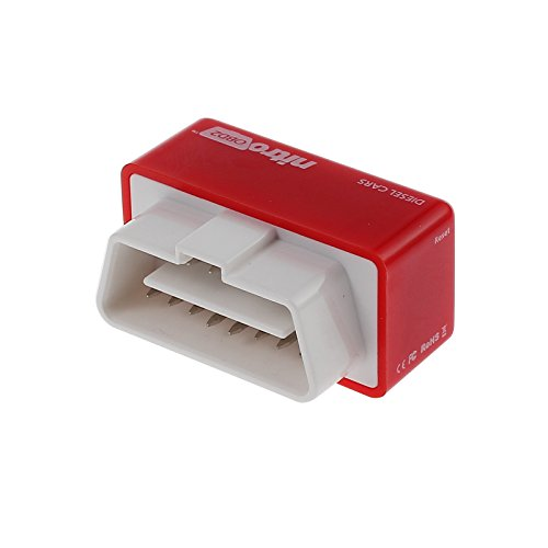 ESYNIC Nitro OBD2 Economy Chip Tuning Box Interface Red For Diesel Car Plug and Drive